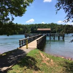 This fishing pier at the boating cove at Smith Mountain Lake