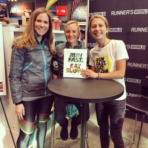 "I met Shalane Flanagan and Elyse Kopecky, authors of the new cookbook ""Run Fast Eat Slow."" Get it!!"