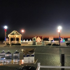 Boardwalk decorations and race preparations