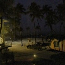 The view from my balcony at La Siesta, listening to the pouring rain and wind.