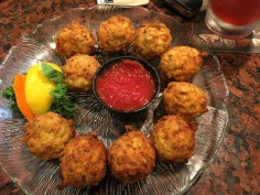 First time eating conch fritters!