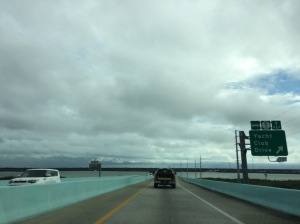 Crossing over Lake Surprise into Key Largo