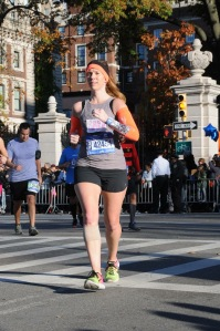 Running the New York City Marathon wearing Oiselle. What you wear during a big race is a confidence booster!