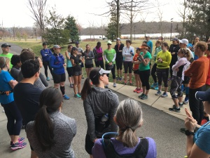 Seeing lots of shorts and short sleeves at the Sunday long run group in FEBRUARY!
